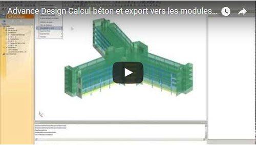 Calcul béton et export vers les modules