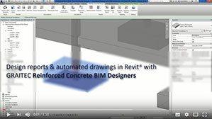 Documents de ferraillage automatique (notes de calcul et plan d'exécution) dans Revit avec les Reinforced Concrete BIM Designers.