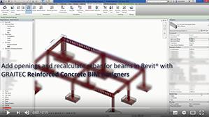 Recalcul du ferraillage de poutres avec ouvertures avec les Reinforced Concrete BIM Designers