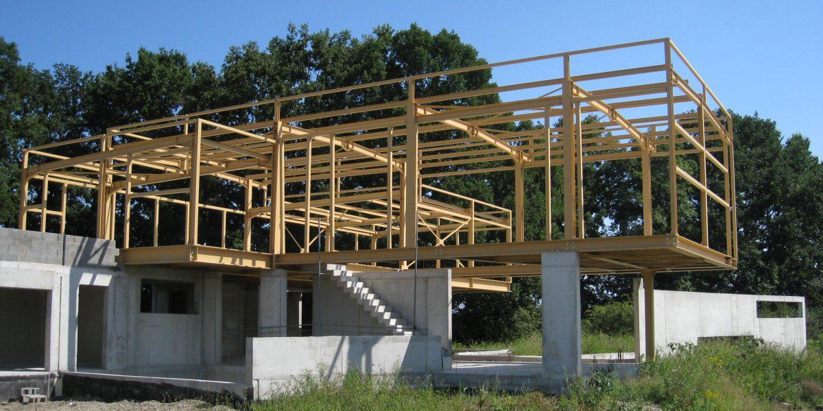 Maison d'habitation à ossature métallique